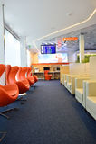Aeroflot-Aufenthaltsrauminnenraum Lizenzfreie Stockfotos