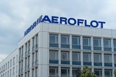 Aeroflot biuro na Unter melinie Lipowej obraz stock