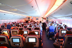 Aeroflot Boeing-777 interior Stock Images