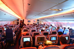 Aeroflot Boeing-777 interior Royalty Free Stock Photo