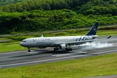 Aeroflot dróg oddechowych samolotowy lądowanie przy Phuket lotniskiem Zdjęcia Stock