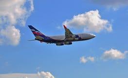 Aeroflot flagship IL-96 Stock Images