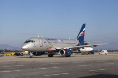 Aeroflot-Fluglinie Lizenzfreie Stockfotografie
