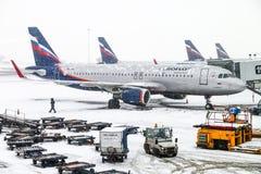 Aeroflot flygbuss A320 Royaltyfri Fotografi