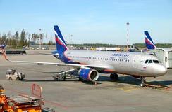 Aeroflot flygbuss A320 Arkivfoton