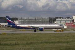 Aeroflot flygbuss A321 Royaltyfria Bilder