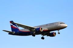 Aeroflot flygbuss A320 Arkivbild