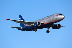 Aeroflot flygbuss A320 Arkivfoto