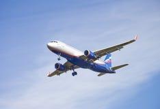 Aeroflot flygbuss A320 Royaltyfri Bild