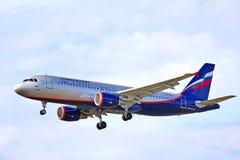 Aeroflot flygbuss A320 Royaltyfria Bilder