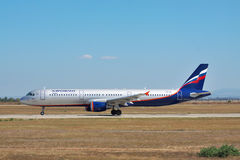 Aeroflot flygbuss A321 Arkivfoto