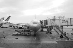 Aeroflot flygbuss A330 på JFK-flygplatsen Royaltyfria Bilder