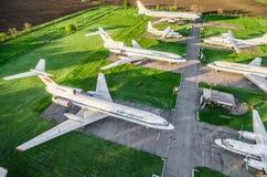 Aeroflot flygplanutställning i Kryvyi Rih Arkivbilder