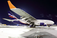 Aeroflot Ilyushin IL-96-300 RA-96005 standing at Sheremetyevo international airport. SHEREMETYEVO, MOSCOW REGION, RUSSIA - MARCH 16, 2014: Aeroflot Ilyushin IL Stock Photo