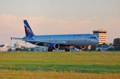 Aeroflot - lignes aériennes russes Airbus A321 Images libres de droits