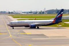 Aeroflot - lignes aériennes russes Boeing 737-8LJ Images libres de droits