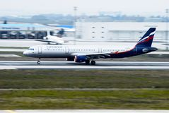 Aeroflot - linhas aéreas Airbus do russo Fotos de Stock Royalty Free