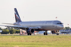 Aeroflot - Russian Airlines Airbus A321-211 aircraft landing on the runway Stock Photos