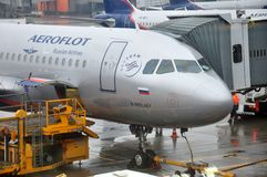 Aeroflot Russian Airlines airplane Stock Images