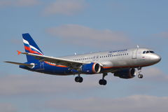 Aeroflot Russian Airlines plane Stock Images