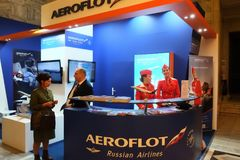 Aeroflot Russian Airlines at TT Warsaw 2017 stock photos