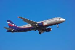 Aeroflot - russische Fluglinien Airbus A320 Stockfotografie