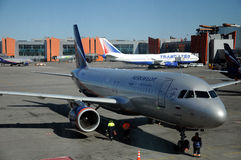 Aeroflot - Russische Luchtvaartlijnenluchtbus A320-200 Stock Fotografie