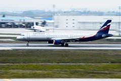 Aeroflot - rysk flygbolagflygbuss Royaltyfria Foton