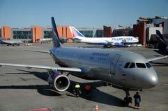 Aeroflot - rysk flygbolagflygbuss A320-200 Arkivbild