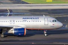 Aeroflot - rysk flygbolagflygbuss A320 Arkivfoton