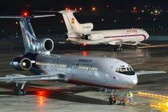 Aeroflot Tu 154 Stockbilder