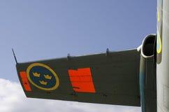 Aerofoil med tre kronor Arkivfoton