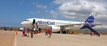 AeroGal-Fluglinie Stockbild