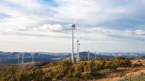 Aerogenerator der äolischen Energie Stockfotografie