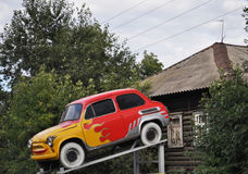 Aerografie, Symbole des Feuers, Miniauto Lizenzfreie Stockbilder