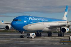 Aerolineas Argentinas new colors stock photography