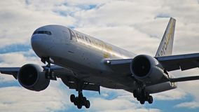 AeroLogic Boeing 777F lastflygplan Arkivbild