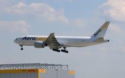 AeroLogic Erstflug in Deutschland Lizenzfreies Stockbild