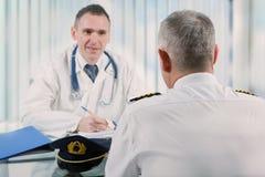 Aeromedical экзамен стоковые изображения rf