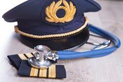 Aeromedical egzamin fotografia royalty free