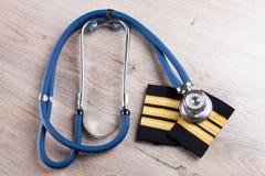 Aeromedical egzamin zdjęcia stock