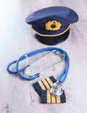 Aeromedical egzamin zdjęcie royalty free