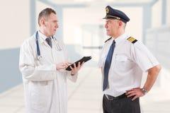 Aeromedical Examen royalty-vrije stock afbeeldingen