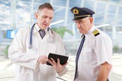 Aeromedical lotnictwo obraz royalty free