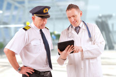 Aeromedical Luftfahrt Stockfotos