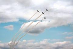 Aeromeeting, samoloty w niebie fotografia stock