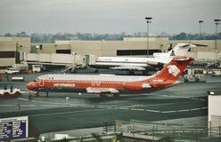 Aeromexico道格拉斯在洛杉矶国际机场的DC-9-32 XA-DEM 1988年12月22日 免版税库存图片
