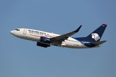 AeroMexico Boeing 737-700 airplane royalty free stock image