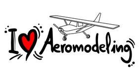 Aeromodeling love Royalty Free Stock Photos