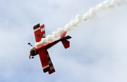 Aeromodelling. Hobbyists fly model aircraft in Karanganyar, Central Java, Indonesia stock image